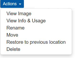 joomla image manager actions